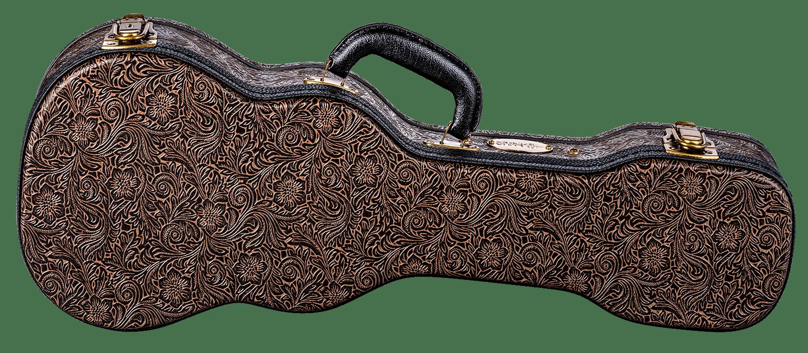 Luna Hard Case Tooled Leather Concert
