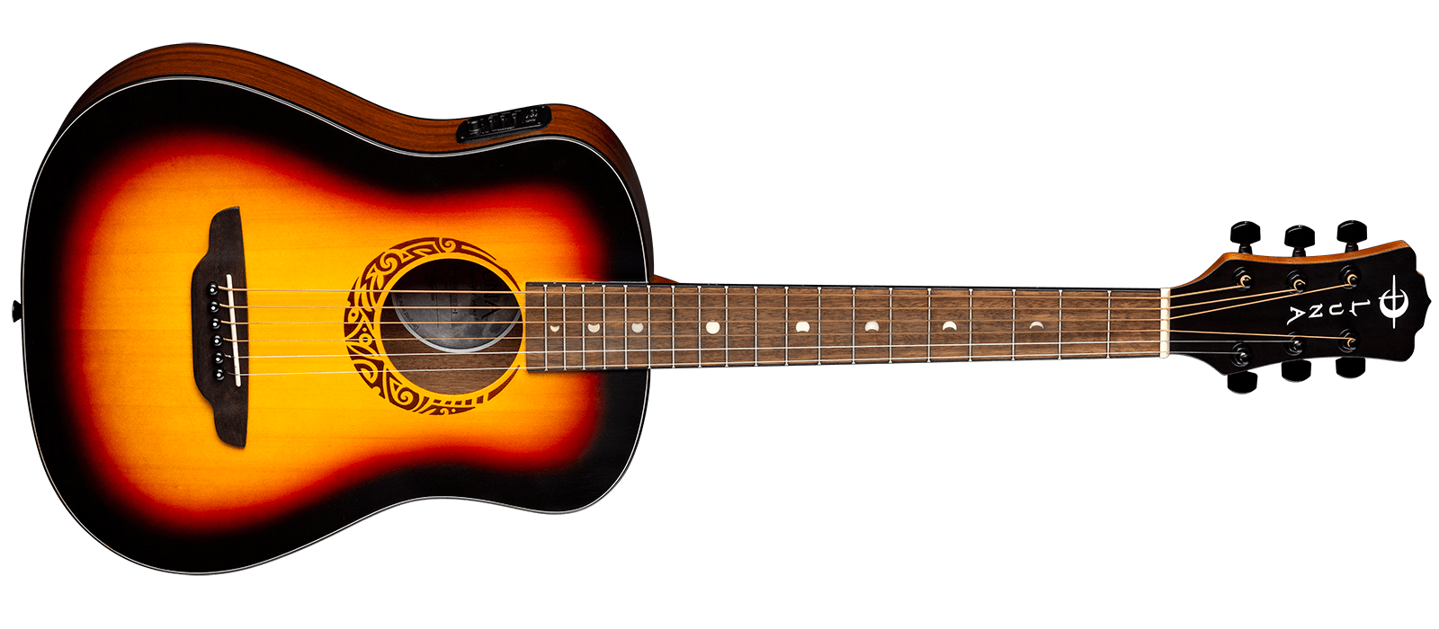 Safari Tribal Travel Guitar with Preamp