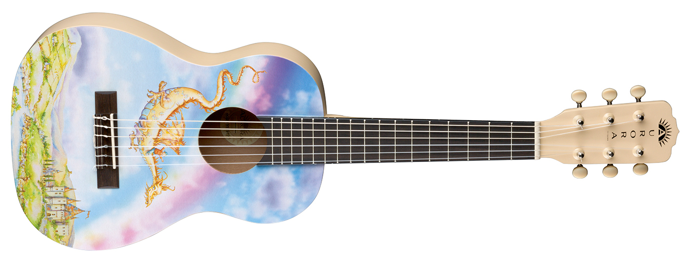 Aurora 1 2 Nylon Guitar Dragon Luna Guitars