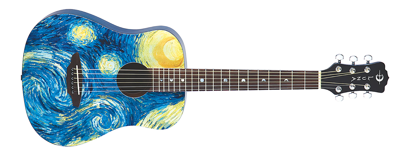 Safari Starry Night Travel Guitar Wbag Luna Guitars