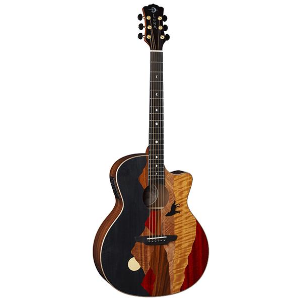 68d6bf76c0c Vista Bear Tropical Wood A/E w/Case | Luna Guitars